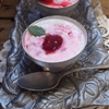 Yogurt Panna Cotta with Raspberry Coulis