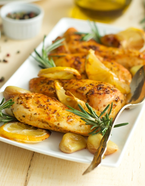 Rosemary Lemon Roasted Chicken Breasts