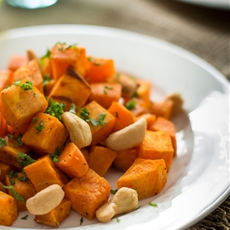 Baked Sweet Potato with Cashew