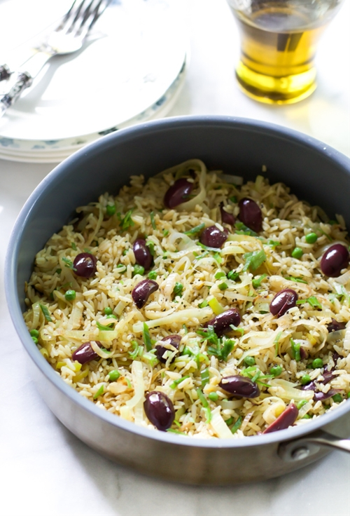 Leek Kalamata Rice