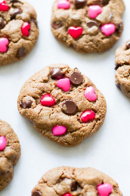 Valentines Day Gluten Free Chocolate Chip Cookies
