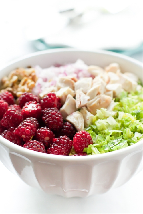 Chopped Salad with Tayberries