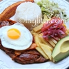 Ecuadorian churrasco steak and egg