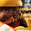 Bacon & Smoked Gouda Stuffed Jalapeno Burger