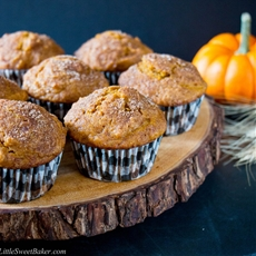 Cinnamon Sugar Pumpkin Muffins (video)