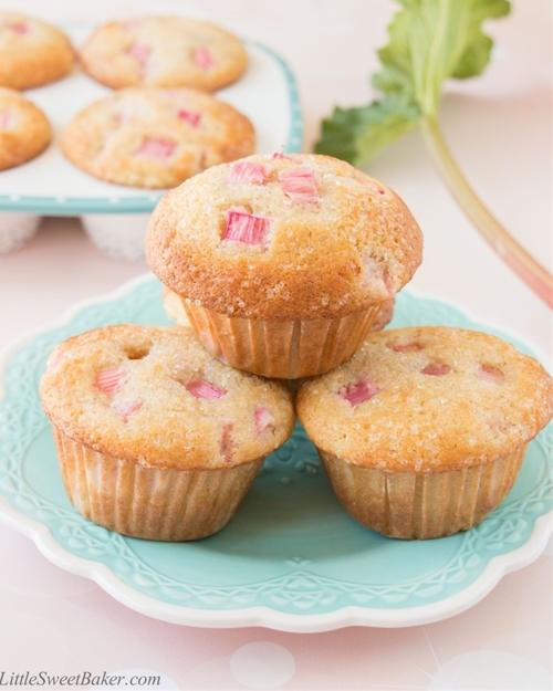 Fresh Rhubarb Muffins