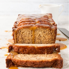 Salted Caramel Banana Bread