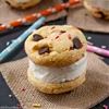 Birthday Cake Cookie Ice Cream Sandwiches