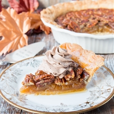 Pecan Pie with Chocolate Whipped Cream (video)