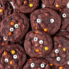 Reeses Double Chocolate Halloween Cookies