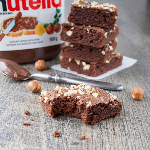 5-Minute Chocolate Hazelnut Brownies