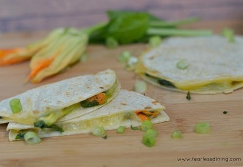 Gluten Free Squash Blossom and Epazote Quesadillas