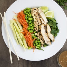 Thai Chicken Salad with Peanut Dressing
