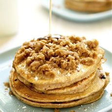Whole Wheat Streusel Pancakes