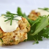 Crab cakes with Lemon Aioli