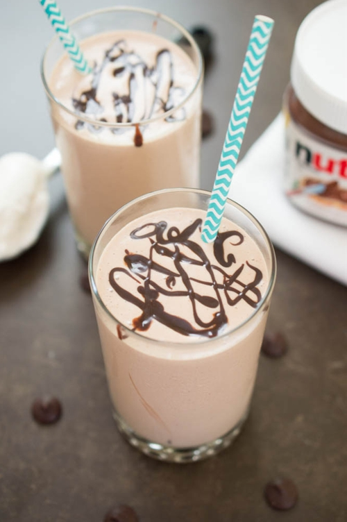 Peanut Butter & Nutella Milkshake