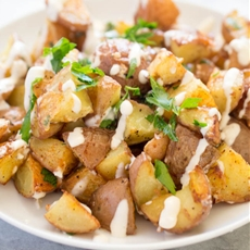 Roasted Potatoes With Horseradish Aioli