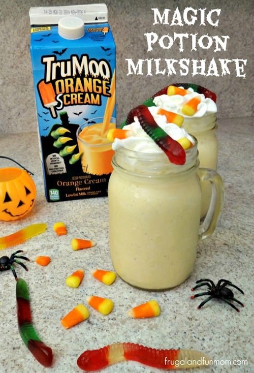 Magic Potion Halloween Milkshake with TruMoo Orange Scream!