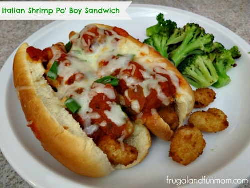 Italian Shrimp Po Boy Sandwich!