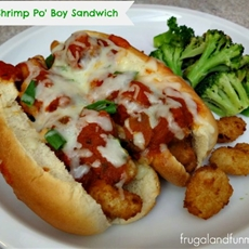 Italian Shrimp Po Boy Sandwich!