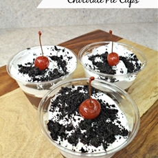 Cookies n Cream Chocolate Pie Cups!
