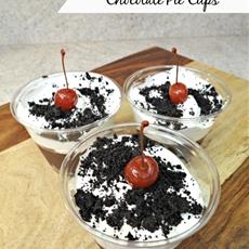 Cookies n Cream Chocolate Pie Cups!