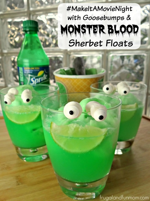 Goosebumps Inspired Monster Blood Sherbet Floats With Lawn Gnome Popco