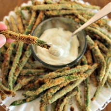Breaded Green Beans with Caesar Dip! Plus Take The Power Your Lunchbox
