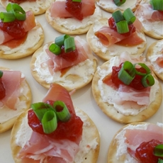 Prosciutto and Cranberry Crackers, An Appetizer Made For Holiday Enter