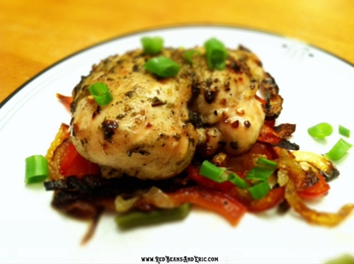 Roasted Creole Chicken Breasts with Vegetables