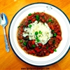 Red Beans and Rice with the secret thickening ingredient!