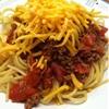 Cincinnati Style Chili over Spaghetti Noodles