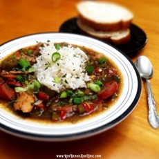 Chicken, Two Sausage, Okra Gumbo