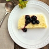 Lemon SemiFreddo with Blueberries