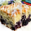 Melt In Your Mouth Blueberry Cake with Lemon Glaze