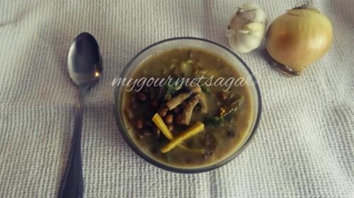 Black Chickpea & Mushroom stew
