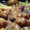Chickpea in White Mushroom & Dill Sauce with Stir fry Red Cabbage