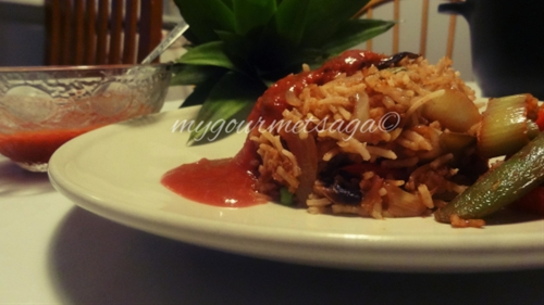 Asian Plum Sauce Stir Fried Rice