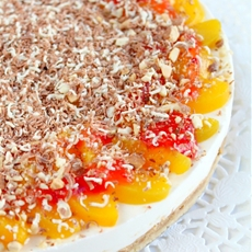 Peach Raspberry Cheesecake