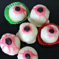 Cocoa Red velvet cake eyeballs