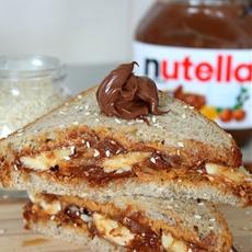 Nutella Peanut Butter Breakfast Sandwich
