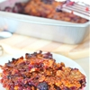 Mixed berry crisp with whole wheat cereal & corn flakes