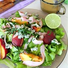 Peach and Blue Cheese Salad