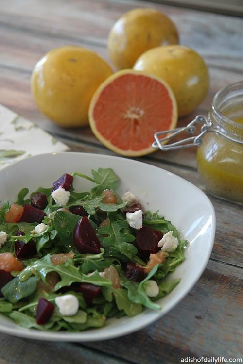 Florida Grapefruit and Beet Salad