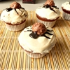 Spider muffins with Ferrero Rocher & yogurt