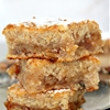 Vegan blondie with banana & walnuts