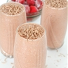 Fudge Smoothie with Strawberry, Cherry & Orange juice