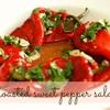 Roasted sweet pepper salad