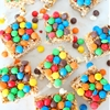 Sweet and Salty Popcorn Bars with M&Ms