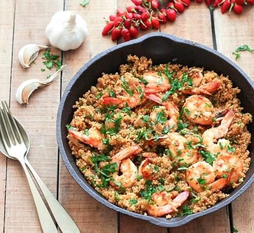 Garlic Shrimp and Quinoa • As Easy As Apple Pie